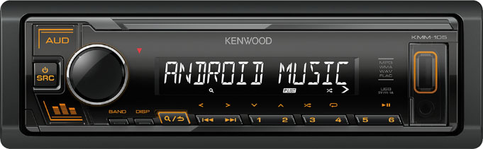 Авто MP3 KENWOOD KMM-105AY 4x50W, USB / AUX / MP3, WMA, FLAC / Съемная панель
