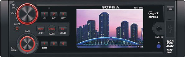 Авто DVD/CD/MP3 SUPRA SDM-3110 бездисковый, АКЦИЯ!