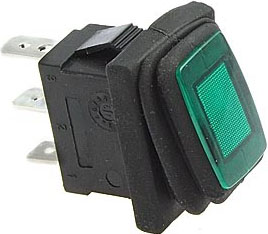 KR13c Выключатель SB008-12V IP65 on-off 13x19.2mm 3 pin