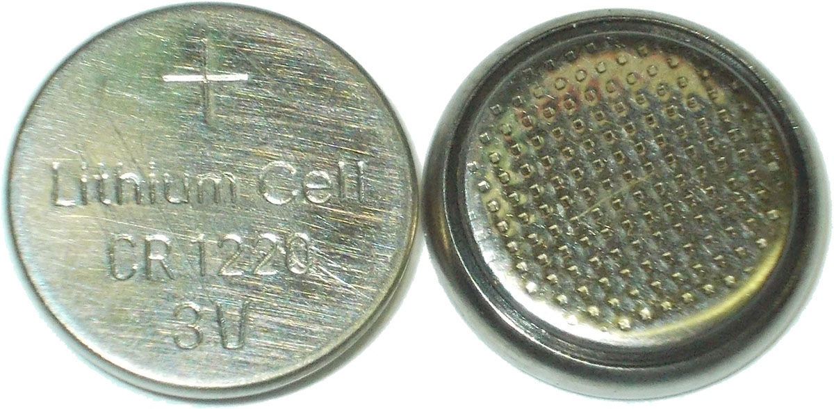 Элемент пит. литиевый CR1220 LITIUM CELL 3v
