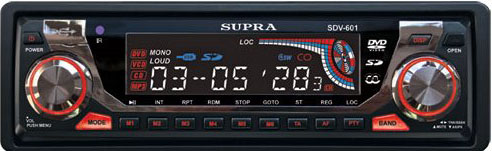 Авто DVD/CD/MP3 SUPRA SDV-601U.АКЦИЯ!!