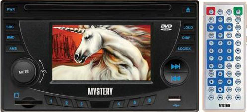 Авто DVD/CD/MP3/MPEG4 MYSTERY MDD-4500D( экран 4''.TV-тюнер, USB.MMC-card)