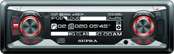 Авто CD/MP3 SUPRA SCD-408U USB/SDдо 4Гб/CD/MP3/AUX.