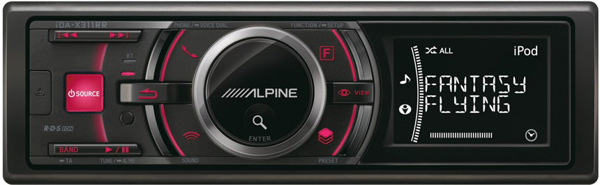 Авто MP3 ALPINE ALP-IDA-X311RR(USB,RDS,BLUETOOTH,1лин.выход,4*50)