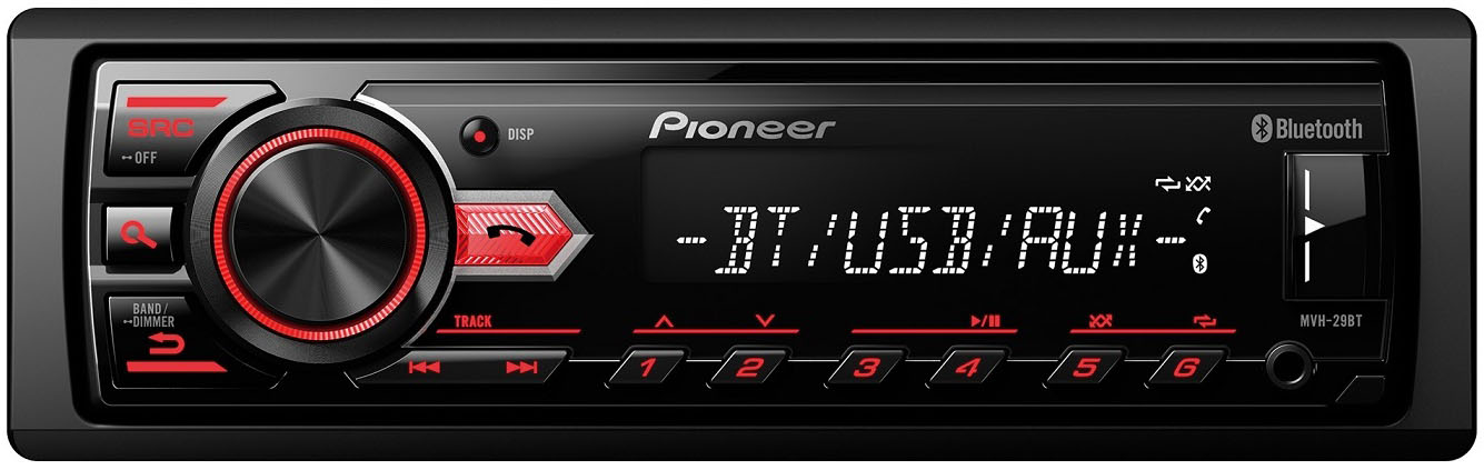 Авто MP3 PIONEER MVH-29BT RDS, AUX, USB, 4*50w, BLUETOOTH