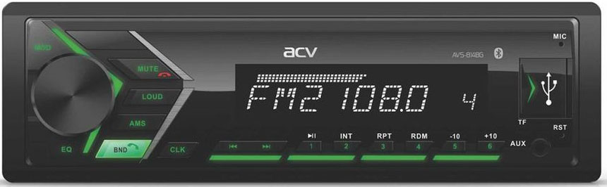 Авто MP3 ACV AVS-814BG BLUETOOTH / USB/SD, 4*50W, AUX
