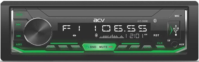 Авто MP3 ACV AVS-816BG BLUETOOTH / USB/SD, 4*50W, AUX