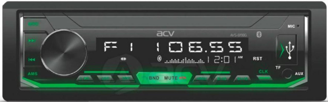 Авто MP3 ACV AVS-819BG BLUETOOTH USB/SD, 4*50W, AUX