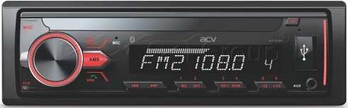 Авто MP3 ACV AVS-813BM BLUETOOTH / USB/SD, 4*50W, AUX