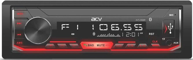 Авто MP3 ACV AVS-816BR BLUETOOTH / USB/SD, 4*50W, AUX