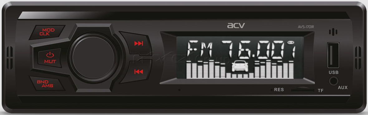 Авто MP3 ACV AVS-1701R USB/SD, 4*50W, AUX