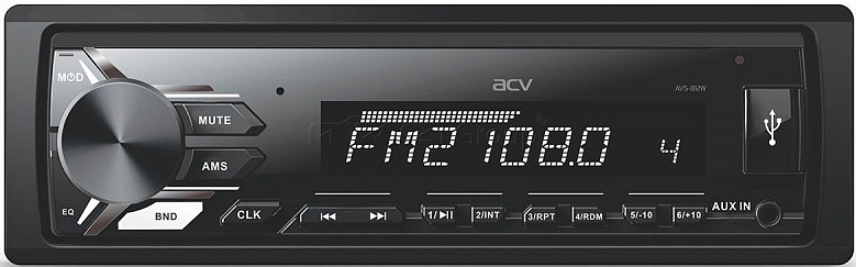 Авто MP3 ACV AVS-812BW USB/SD, 4*50W, AUX BLUETOOTH