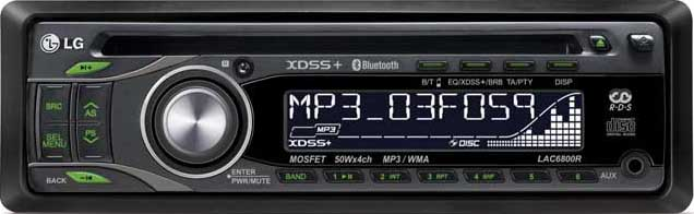 Авто CD/MP3 LG LAC-6800R с Bluetooth.